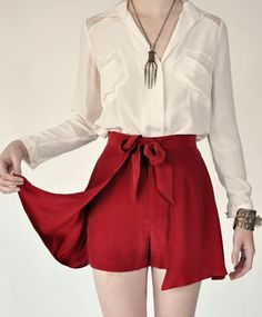 cute and sophisticated shorts. Bonus: I can wear them throughout the winter here! Samantha Pleet, Silk Cape shorts, $250.