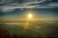 Sunrise from Wayah Bald Lookout Tower (Nantahala)