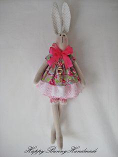 Bunny/ Tilda bunny/ Rabbit/ Easter gift/ by HappyBunnyHandmade