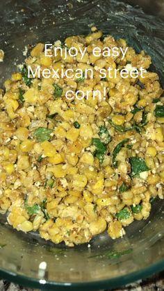 Canned Corn Recipes, Veggie Recipes, Mexican Food Recipes, Cooking Recipes, Healthy Recipes, Mexican Side Dishes, Veggie Side Dishes, Mexican Corn, Mexican Street Corn