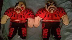 RARE-Tonka-WWF-WWE-Plush-Wrestling-Buddies-Legion-of-Doom-HAWK-amp-ANIMAL-1990