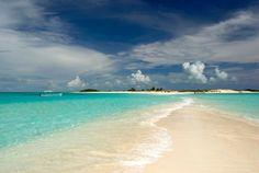Los Roques, Venezuela, islas unidas por bancos de arena