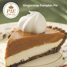 Gingersnap Pumpkin Pie Recipe from Taste of Home
