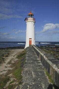 Griffith Island lighthouse [1859 - Port Fairy, Victoria, Australia]