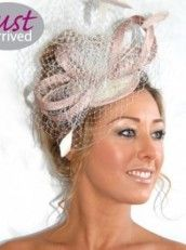 J Bees Millinery Sinamay And Mesh Fascinator with feathers Fascinators, Band, Feathers, How To Wear, Mesh, Fashion, Moda, Sash, Fashion Styles