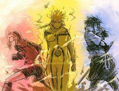 #Sakura #naruto #sasuke Team valor instinct and mystic right down to their colours and personality