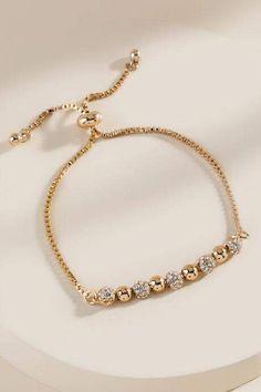 francesca's Anika Pave Crystal Pull Tie Bracelet – Gold Diamond Bracelets, Gold Bangles, Sterling Silver Bracelets, Jewelry Bracelets, Ankle Bracelets, Braclets Gold, Beach Bracelets, Sterling Jewelry, Gold Bracelet Indian