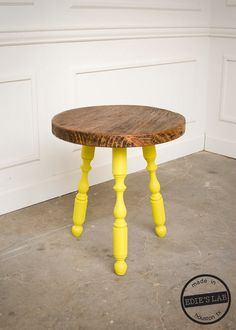 William and Mary Reclaimed Wood Round Side Table by EdiesLab, $150.00
