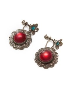 Ruby Filagree Earrings.