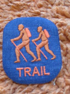 TRAIL vintage patch  sewon and never used free by crazicandi, $3.00