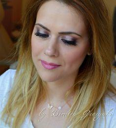 Metal shine makeup look
