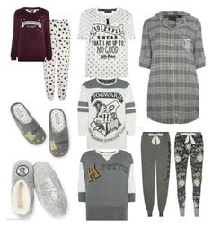 """""""Hogwarts PJ day"""" by fashionqueen223 ❤ liked on Polyvore featuring women's clothing, women, female, woman, misses and juniors"""