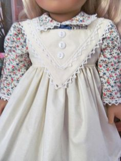 Historical Dress Dress Pinafore 18 Inch Doll by fashioned4you