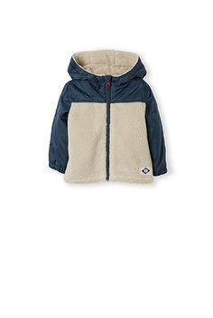 Faux Shearling Nylon Jacket