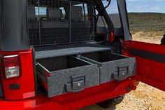 ARB 4x4 Accessories Part 5032020 - Outback Solutions Roller Drawer & Roller Drawer w/ Roller Floor Kit for 2007-10 Jeep Wrangler JK 2-Door models - 4 Wheel Parts
