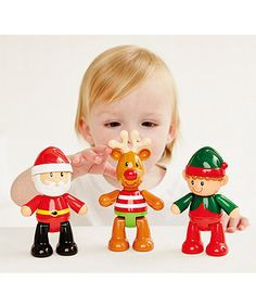 ELC Toybox Christmas Set. A fun, Christmas set including jolly Santa, Elvin Elf and Rufus Reindeer.