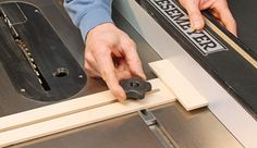 How to Reset Your Table Saw With Simple Plywood Jig on Your Rip Fence. www.Rockler.com
