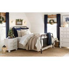 Birch Lane: Farmhouse & Traditional Furniture - Made to Last Elegant Comforter Sets, Duvet Sets, Duvet Cover Sets, Colonial, Steel Bed Frame, Amity Home, Single Duvet Cover, Linen Duvet, Upholstered Platform Bed
