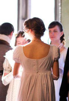 Robe Regency, Jane Austen 4billes, ceinture de caisse haute coton blanc