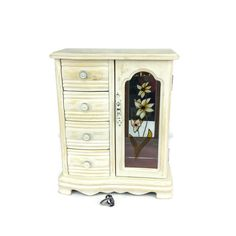 Rustic Jewelry Armoire Fabulous Jewelry Armoire White Jewelry Box Vintageshabbyshores