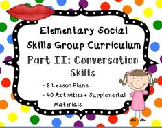 Social skills group curriculum