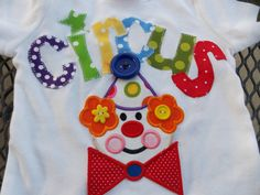 EXCLUSIVE Circus Clown T Shirt for Children by by BubbleBabys