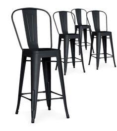 Lot de 2 chaises hautes design industriel m tal rouge factory xl ce produit n 39 est plus for Chaise factory rouge