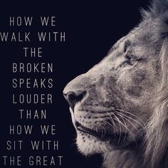 Walking with the Broken vs. Sitting with the Great!