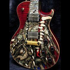"2003 PRS DRAGON 2002 SINGLECUT #41 RED - SOLD | Garrett Park Guitars ""Hall of Fame"" | www.gpguitars.com"