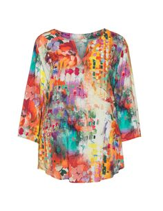 Printed V-neck top by Jean Marc Philippe. Shop now
