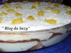 Blog da Suzy : Bolo Gelado de Tigela - Abacaxi com Creme e Coco
