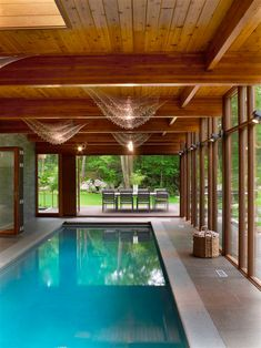 Indoor pools are so luxurious! I will have one when I'm old and rich. Hudson Valley Country House by Fractal Construction