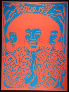 Jimi Hendrix - :)  A very special someone got this for me many moons ago and it hangs lovingly in my kitchen :)