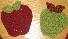 Ravelry: Apple coasters by Louise Howe