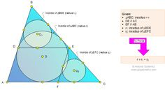 Problem 1101: Triangle, Parallel Lines, Circle, Incircle, Inradius, Radius, Angle