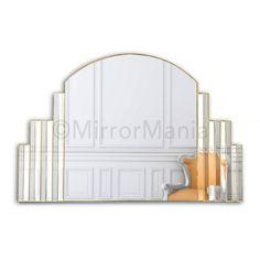 Bathroom Mirrors Chicago chicago original handcrafted art deco overmantle mirror - art deco
