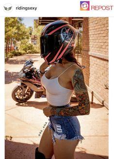 ḹ₥קᎧƧƨῗɓŁḕ - Motorrad - Lady Biker, Biker Girl, Motard Sexy, Motorbike Girl, Biker Chick, Super Bikes, Car Girls, Bike Life, Model