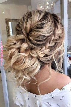 31 Best Trendy And Beautiful Twisted Rope Braid Blonde Hairstyle For Long Hair 💖 - Haircut 06 . 👧 ❤ ❤ ❤ ❤ ❤ ❤ ❤ ❤ ❤ ❤ Everythings About Gorgeous Twisted Rope Braid Hairstyle for You ! Long Hair Haircut, Prom Hairstyles For Long Hair, Prom Hair Updo, Bride Hairstyles, Cool Hairstyles, Summer Hairstyles, Hairstyles For Sweet 16, Long Prom Hair, Hairstyles 2018
