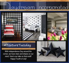 Stars and stripes are not just patriotic, they are classic! #texturetuesday #starsandstripes