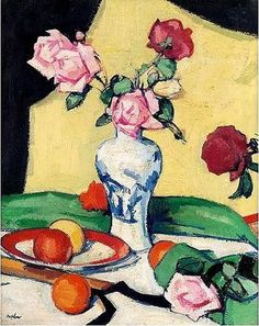 Samuel John Peploe, Still life with oranges & roses, 1920 – 1925.