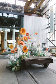 Paper flower installations by Table Art