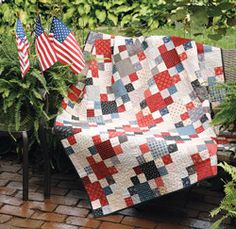 Patriotic Patchwork by Deb Finan is quick and easy and a great way to use your red, white and blue scraps!