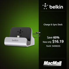 Save 60% on a Belkin charge & sync dock at MacMall.