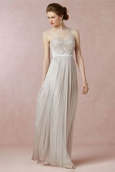 Vivienne Gown in cloud grey! #bhldn