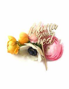 "Caketopper ""Mama knows best"" - Die Macherei Beste Mama, Cake Toppers, Crown, Jewelry, Gifts, Ideas, Corona, Jewlery, Jewerly"