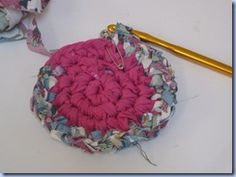 Crochet Round Rag Rug tutorial
