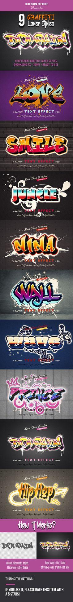 Graffiti Effect Graffiti Text, Graffiti Artwork, Graffiti Wall, Photoshop Text Effects, Photoshop Actions, Asl Words, Avengers Texts, Simple Powerpoint Templates, Flyer Layout