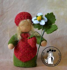Erdbeeren Blumenkinderwerkstatt - Blumenkinder für den Jahreszeitentisch