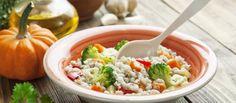 Squash and barley salad with balsamic vinaigrette #recipe #food