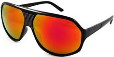 Edge I Wear New Lightweight Retro Plastic Aviator Sunglasses with 100% UV Protection Mirror Lens. 540642/REV(BLACK/RED REVO) Edge I-Wear. $8.95. Save 55% Off!